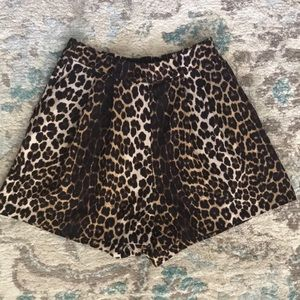 H&M leopard print shorts with pockets